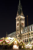 Christmas market in Hamburg — Stock Photo
