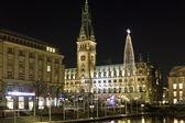 Christmas market in Hamburg — Stock Photo