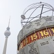TV tower and worldclock (Fernsehturm, Weltzeituhr Berlin) — Stock Photo