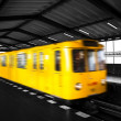 Underground train — Stock Photo
