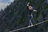 Highlining — Stockfoto