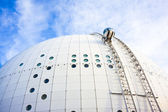 Gondola in Stockholm Globe arena — Stock Photo