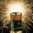 Champagne and Sparklers - Stock Photo