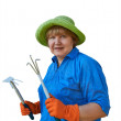 Senior Woman With Garden Tools — Stock Photo