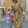 Statues Streets of Taormina — Stock Photo