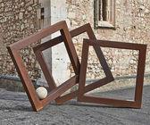 Abstractie op de straat in taormina — Stockfoto