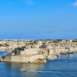 Grand Harbor in Valetta, Malta — Stok fotoğraf