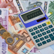 Euro Notes with Calculator — Stock Photo #39027209