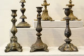 Antique candlesticks — Stock Photo
