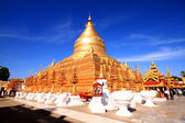 The golden Shwezigon Paya — Foto Stock