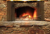 Fireplace — Stock Photo