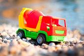 海辺でトラック — ストック写真