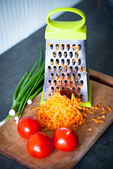 Grated carrots and tomatos — Photo