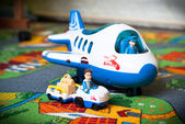 Toy plane and truck  — Stock Photo