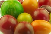 Various tomatoes closeup — Stock Photo