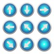 Blue icons with arrows — Stock Photo