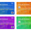 Collection of credit cards — Stock Photo