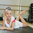 Portrait of gymnast girl — Stock Photo #12486710