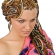 African plaits - Stock Photo