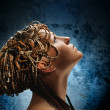 Girl with an african plaits — Stock Photo #12814277