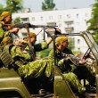 Airborne troops on car - Lizenzfreies Foto