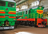 Two old locomotives — Stock Photo