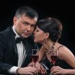 Couple with wine — Stock Photo