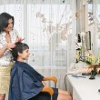Foto Stock: In hairdressing saloon