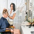 In hairdressing saloon — Stock Photo