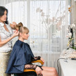 In hairdressing saloon - Stock Photo
