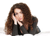 Curly woman — Stock Photo