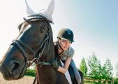 På hästryggen — Stockfoto