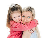 Young mother little daughter — Stock Photo