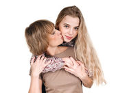 Mothers kiss — Stock Photo