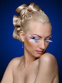 Face coiffure makeup — Stock Photo