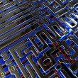 Abstract circuit inside microchip — Stock Photo