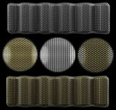 Protective meshes set (for microphones and speakers) — Stock Photo