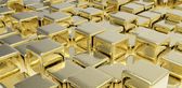 Golden cubes — Stock Photo