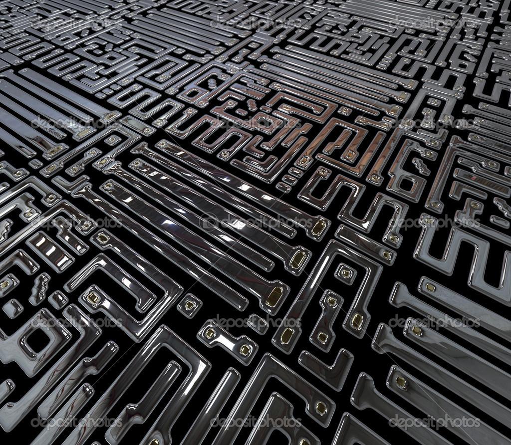 resumen circuito interior de microchip foto de stock