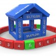 Stockfoto: Stylized house made of spreadsheet 3d elements