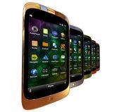 Generic smartphones — Stock Photo