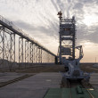 Stock Photo: Proton space rocket launch pad. Baikonur Cosmodrome