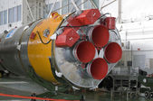 Soyuz space rocket assembly building. Baikonur Cosmodrome — Foto Stock