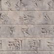 Stock Photo: Cuneiform in Persepolis, Iran