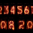 Digits on vintage display — Stock Photo