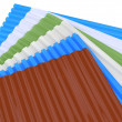 Corrugated sheets — Foto Stock #36434915