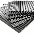 Corrugated sheets — Stockfoto