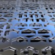 Foto Stock: Perforated metal sheets