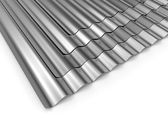 Corrugated sheets of metal — Stock Photo