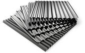 Corrugated sheets — Stock Photo